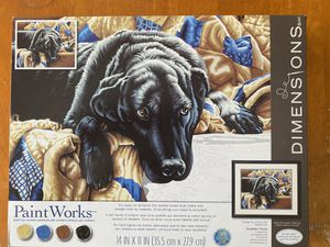Paint Works Black Labrador paint by numbers kit BRAND NEW for Sale in San Francisco, CA