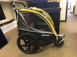 Two kids carrier for walk 2-in-1 Double Child Baby Bike Trailer and Stroller $69 for Sale in Duluth, GA