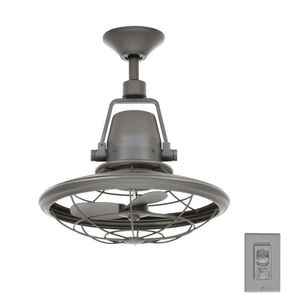 Home Decorators CollectionBentley II 18 in. Indoor/Outdoor Natural Iron Oscillating Ceiling Fan with Wall Control for Sale in Houston, TX