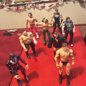 Wrestling Figures 9 Great Figures ! Great Price Too. for Sale in Lakewood, WA