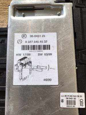00-06 Mercedes W220 S500, S430, E430 S Class Sam Fuse Box Relay Control Module A 027 545 45 32 / 05 0451 23 for Sale in Louisville, KY