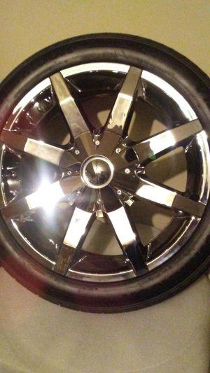 "20"" chrome KMC Wheels for Sale in Jonesboro, GA"