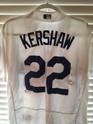 Clayton Keyshawn MLB Baseball Los Angeles Dodgers Jersey #22 Red White Blue Majestic for Sale in Newcastle, WA