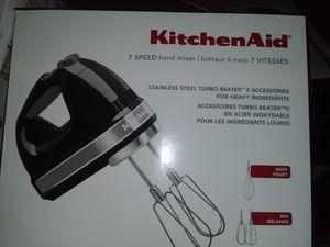 Kitchen aid hand mixer 7 speed $50 for Sale in Odem, TX