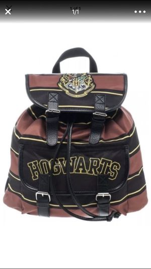 Harry Potter hogwarts crest knapsack backpack bookbag book bag school for Sale in Miami, FL