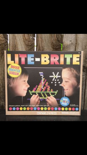 Lite Brite toy kids Retro game - New - 206 Pegs for Sale in Riverside, CA