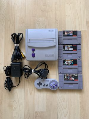 Complete Super Nintendo SNES Jr. with 4 Games for Sale in Chino Hills, CA