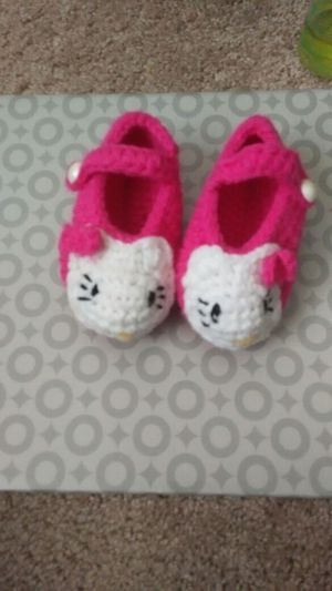 Hello kitty crochet booties for Sale in Murfreesboro, TN