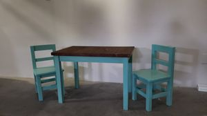 Solid Wood Toddler/Kids Desk and Chairs (handmade) for Sale in Las Vegas, NV