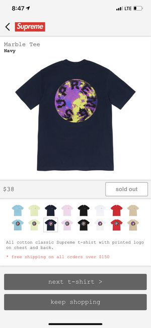 Supreme marble tshirt tee medium navy ds for Sale in West Covina, CA