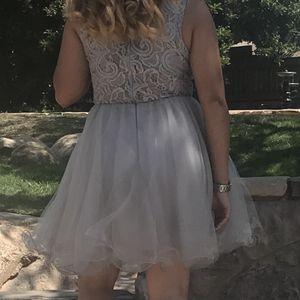 Maid Of Honor Silver Dress . Dama De Honor Vestido Gris for Sale in Compton, CA