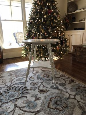 Antique table w glass/brass claw feet - $99 for Sale in Raleigh, NC