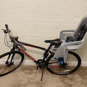 """Schwinn Men's 28"""" hybrid bike with Thule Child carrier for Sale in Everett, MA"""
