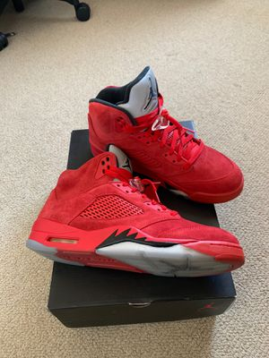 Air Jordan 5 (red suede, 10.5) for Sale in Rockville, MD