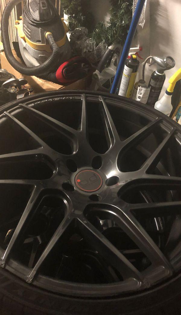 """Sick!!! 22"""" Concave Rims Blaque Diamond w tires"""