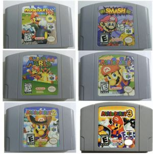 Nintendo 64 game Mario Party 1 2 3 Mario Kart Super Smash Bros and Super Mario 64 for Sale in Lowellville, OH