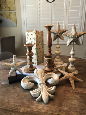Pottery Barn Home Decor - candle holders starfish summer decorations for Sale in San Diego, CA