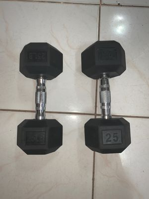 25lbs dumbbells (Single-$70 each) (Pair-$120) for Sale in Miami, FL