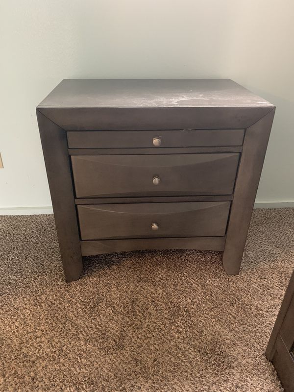 Bedroom Set, lots of drawers, dresser, night stand, full size bed frame with drawers and headboard