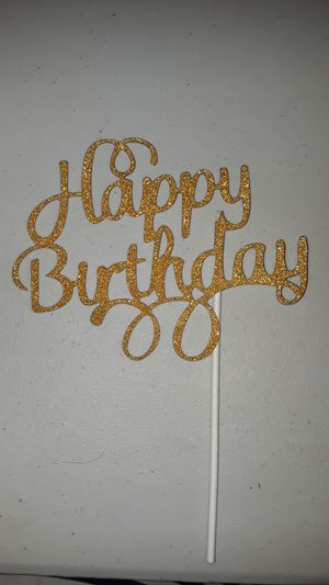 Happy birthday cake topper for Sale in Inglewood, CA