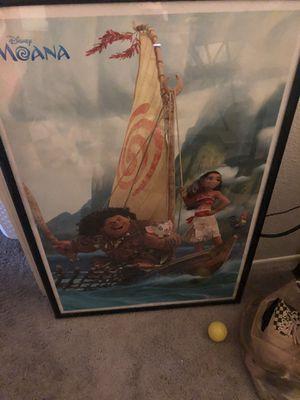 Moana poster frame for Sale in Phoenix, AZ