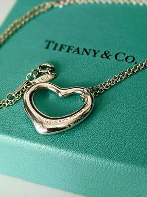 Authentic Tiffany & Co. Elsa Peretti Open Heart Pendant Necklace for Sale in Tustin, CA