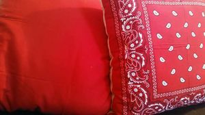 Red bandana pillows for Sale in Cleveland, OH