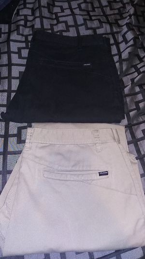 Volcom stone chinos weekend pants skate slim fit tapered frickin modern chino for Sale in Ontario, CA