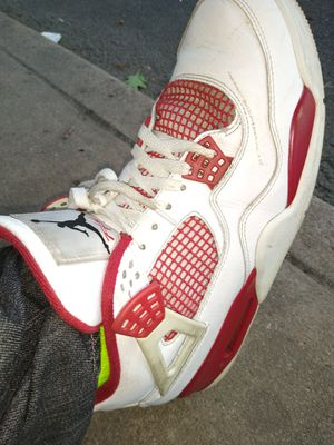 Retro Jordan 4 white and red size 12 for Sale in Aurora, CO