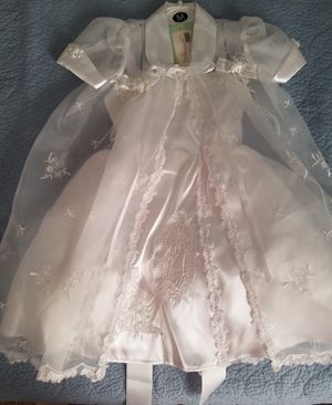 2 Piece White Baptismal/Christening Dress - Lady of Gaudalupe for Sale in Overland Park, KS
