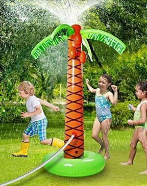 """Brand new 61"""" tall inflatable palm tree water sprinkler kids summer outdoor toy for Sale in Pico Rivera, CA"""