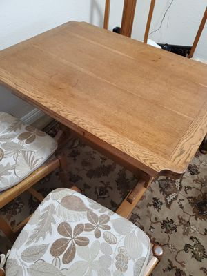 nice gorgeous Antique table and 4 chairs expandable to seat 6 for Sale in Laguna Beach, CA
