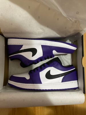 Air Jordan 1 Low Court Purple White size 11.5 and 12 for Sale in South El Monte, CA