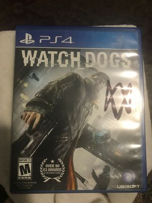 Watch dogs for the ps4 for Sale in San Bernardino, CA