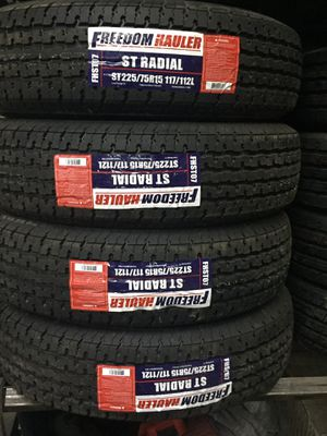 ST225/75/15 10PLY TRAILER TIRES for Sale in Arlington, TX