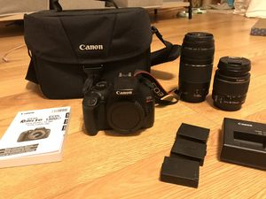 Canon Rebel T6 with 2 lenses for Sale in Washington, DC