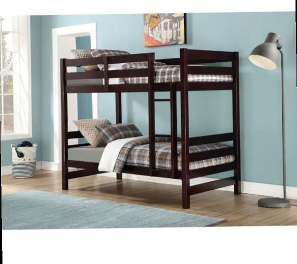 Bunk Bed (Twin/Twin) - 37785 - White/brown CM