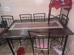 Dining room table with six chairs for Sale in New York, NY
