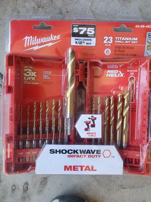 New Milwaukee drill bits for Sale in Phoenix, AZ