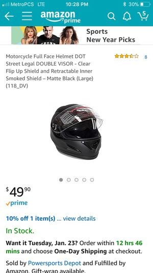 Mmg motorcycle helmet small for Sale in Denver, CO