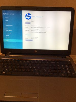 HP 15 Notebook PC with new battery and original charger and very nice genuine leather case/briefcase to go with it if you'd like.great battery life a for Sale in Chula Vista, CA