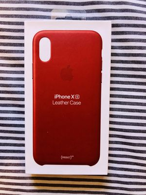 Apple IPhone X, Xs red leather case for Sale in San Diego, CA