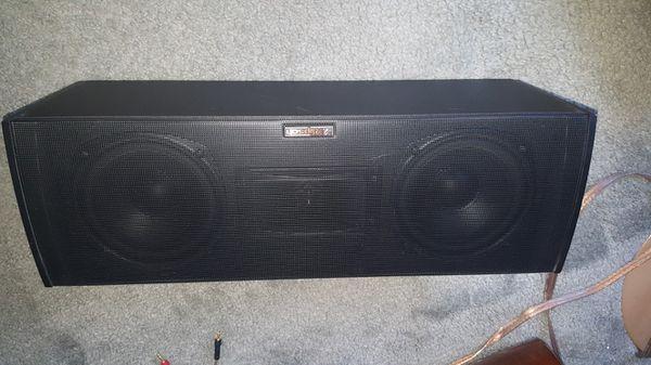 bose 141 & klipsch center speaker