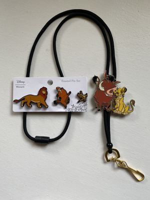 Disney Loungefly Lion King Lanyard and Pin Set for Sale in La Habra, CA