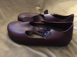 Birkenstock's burgundy Buckle sandals for Sale in Hurst, TX