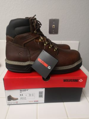 Brand new wolverine raider steel toe work boots size 11 for Sale in Riverside, CA