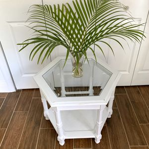 Newly refinished distressed white wood end table / accent table for Sale in Boca Raton, FL