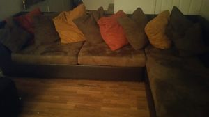 One pillow has a stain. The back of couch has some scratches for Sale in Peoria, AZ