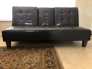 Brown Leather Futon for Sale in Deerfield Beach, FL