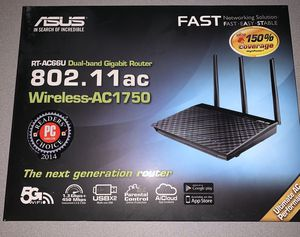 ASUS Wireless-AC1700 Dual Band Gigabit Router (up to 1700 Mbps) with USB 3.0 (RT-ACRH17) for Sale in Phoenix, AZ
